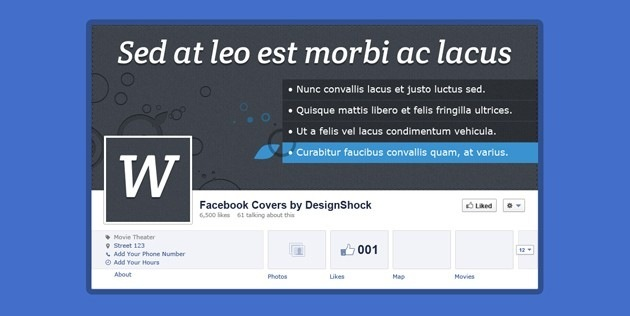 Nice Facebook Cover Contact