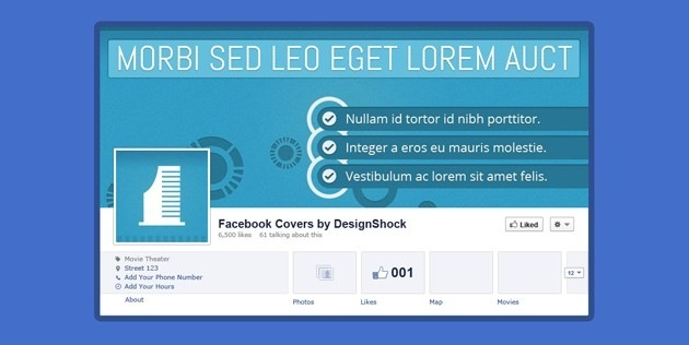 Minimalist fb Cover template
