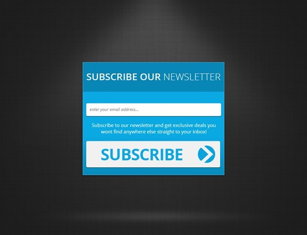 Nice Subscribe form PSD