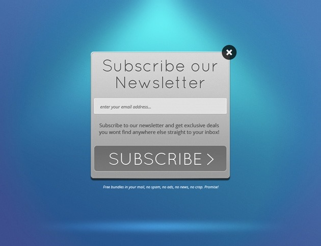 Grey Newsletter form