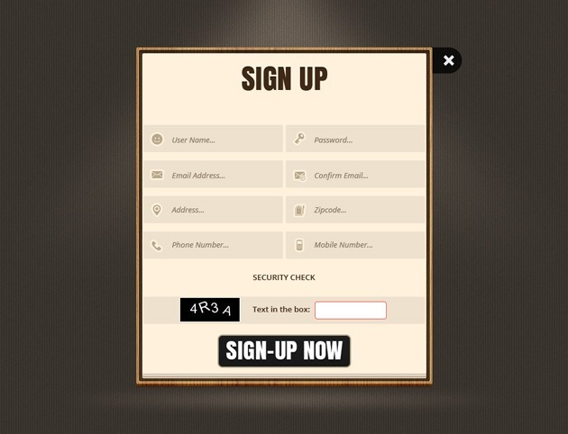 Web Sign up