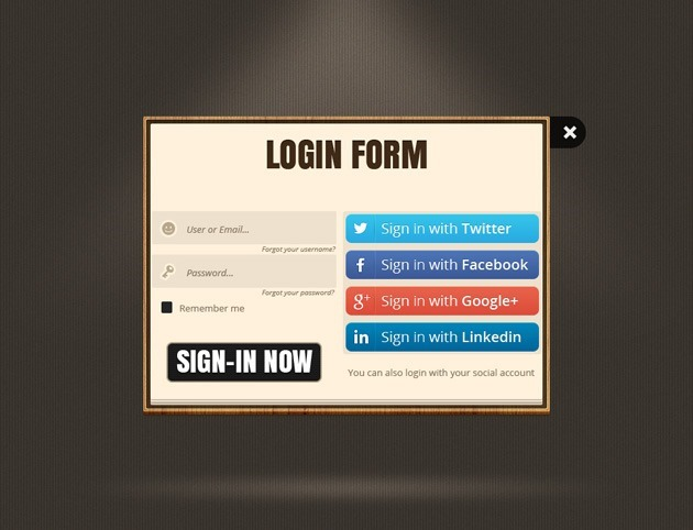 Web Login PSD