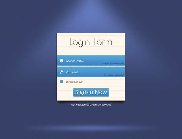 Simple Login form PSD