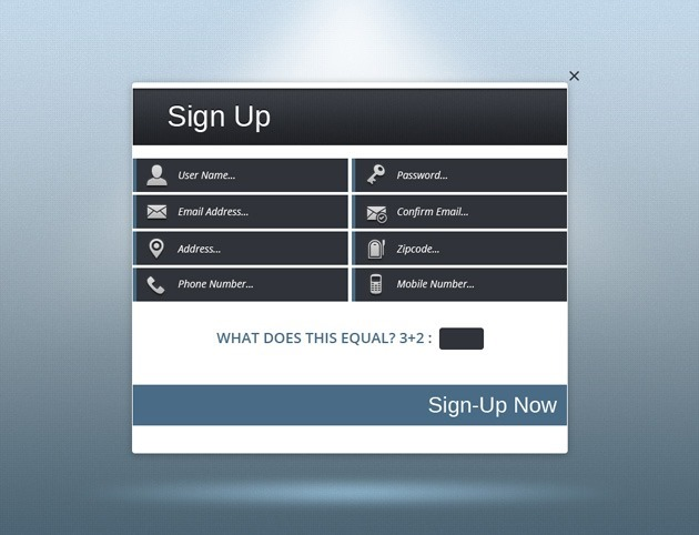 Sign up PSD