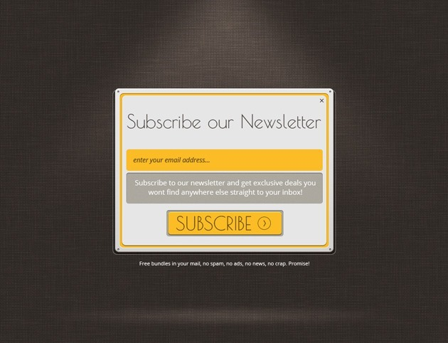 Web design Newsletter form