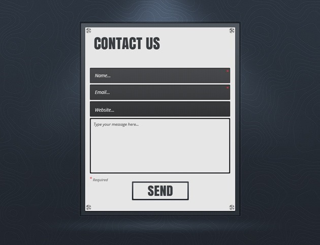 Contact Us form design