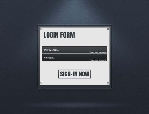 Login form design PSD