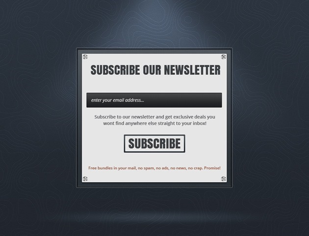 Newsletter form design