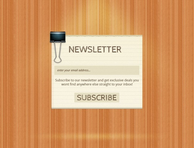 Wood Newsletter form
