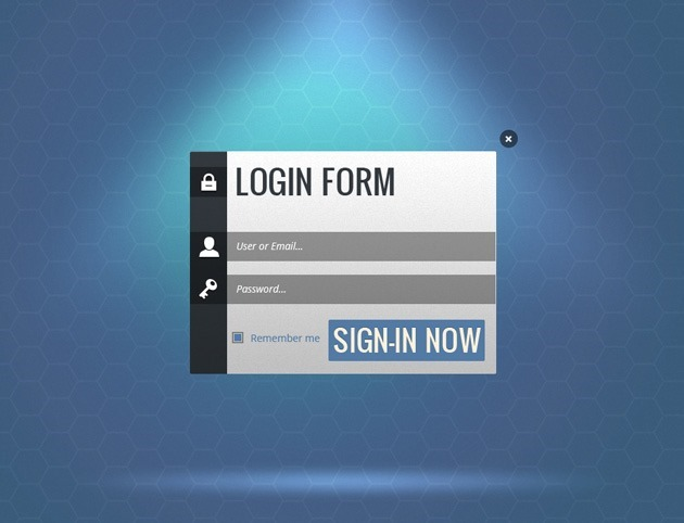 Nice Login form PSD