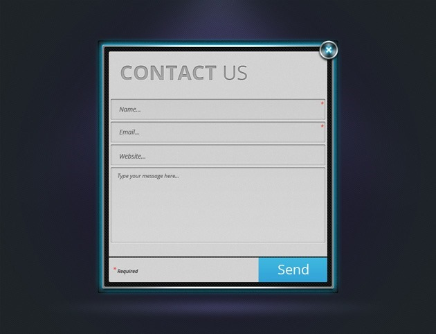 Neon Contact Us form