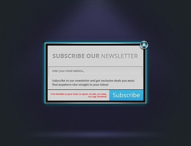 Neon Newsletter form
