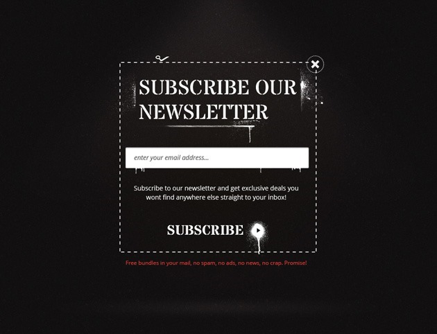 Dark Newsletter form template