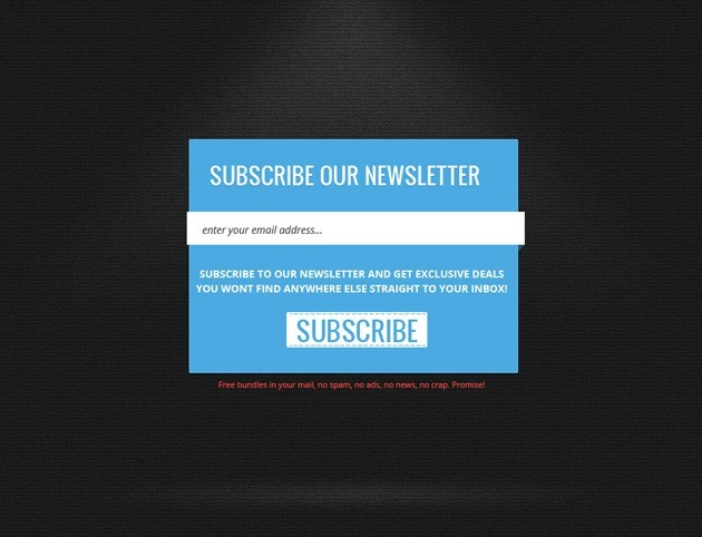 simple Newsletter form template