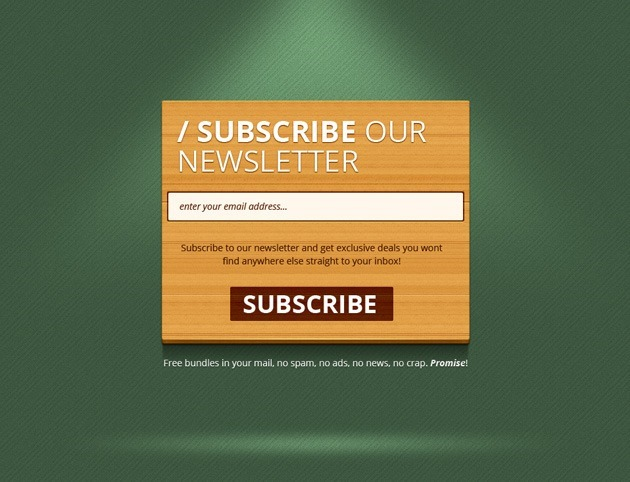 Wood Newsletter form template