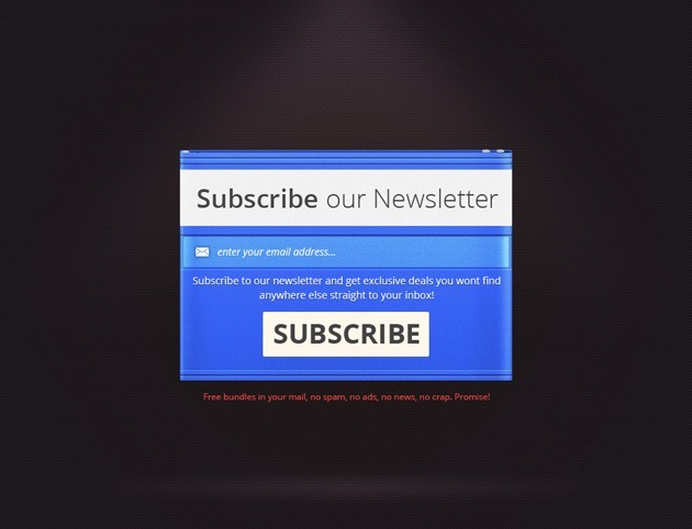Cool Newsletter form template