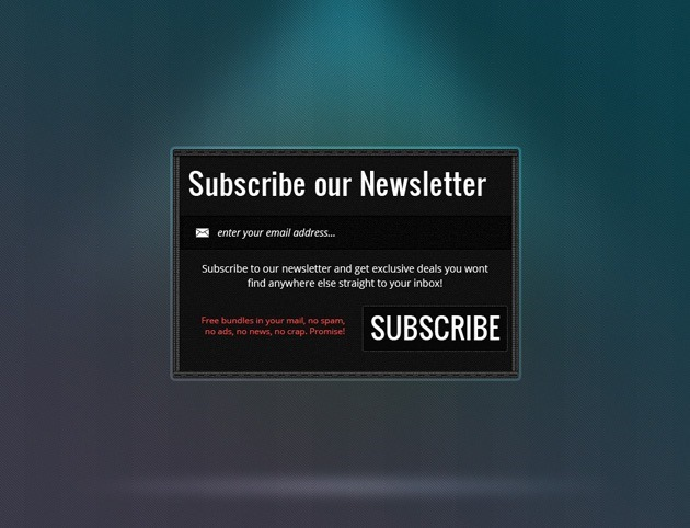 Newsletter form template