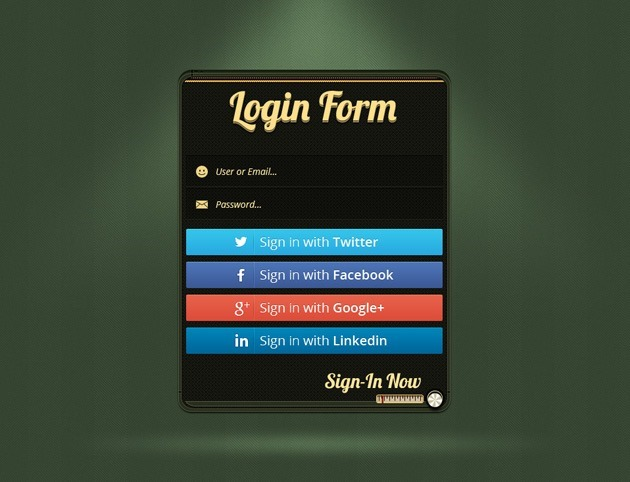 Green Login form design