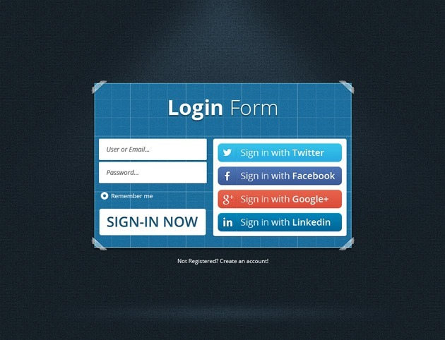 Blue Login form design