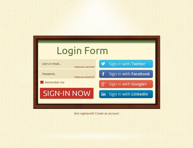 Minimalist Login form design