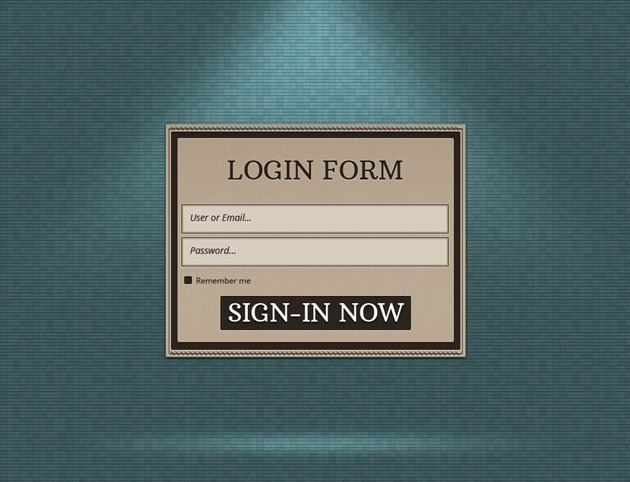 Login form PSD template
