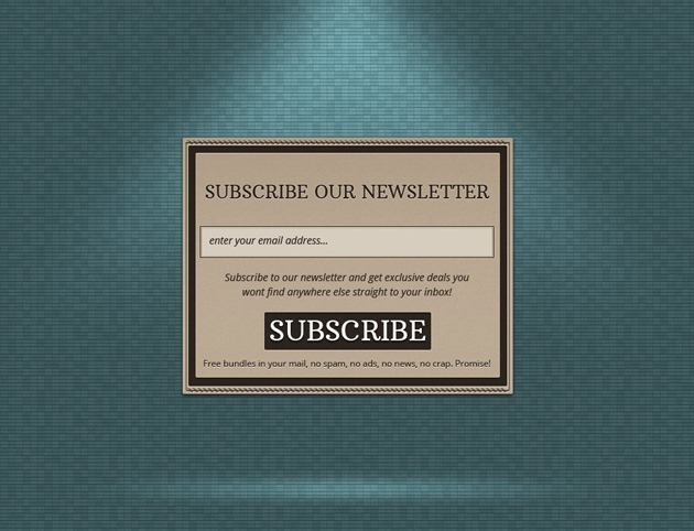 Subscribe form template