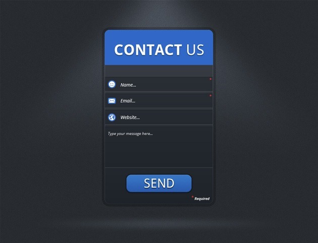 simple Contact Us form template