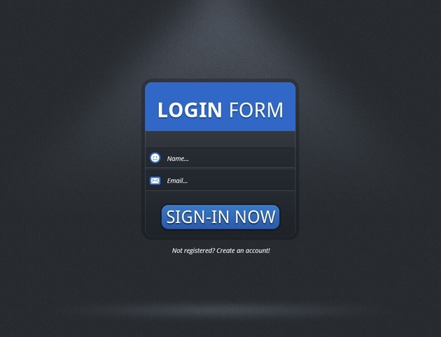 simple Login form PSD template