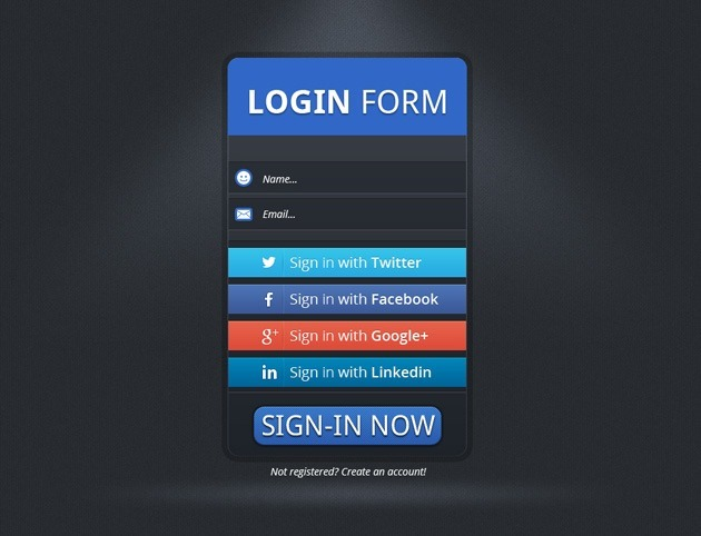 simple Login form template