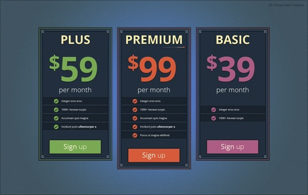 pricing list free