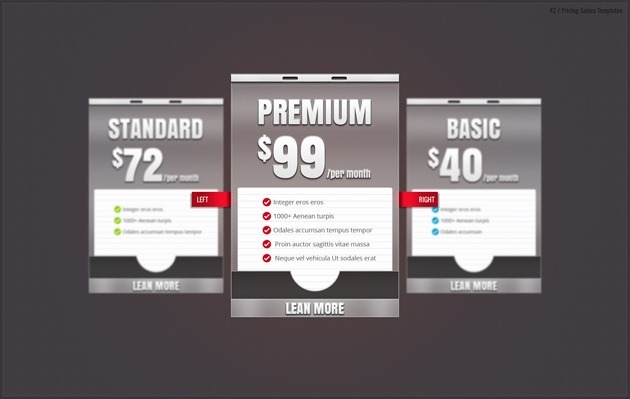 web pricing list free