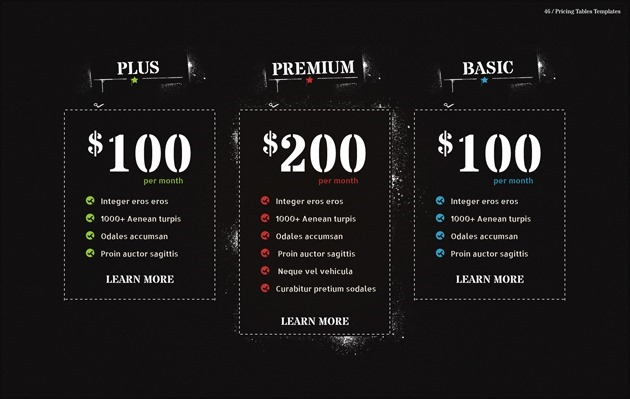 web design pricing list