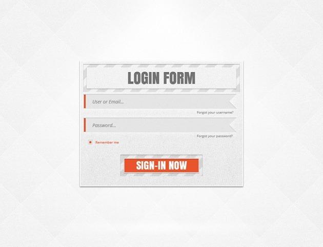 Login form