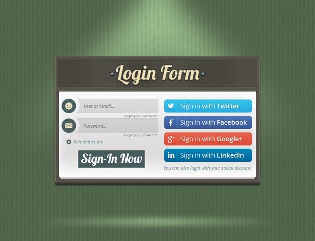 Green Login form
