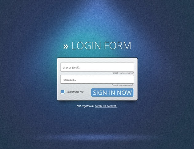 Cool Login form PSD