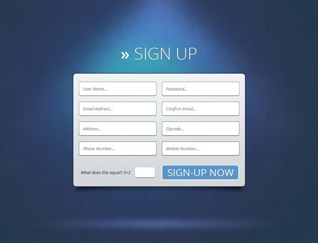 Cool Sign up form