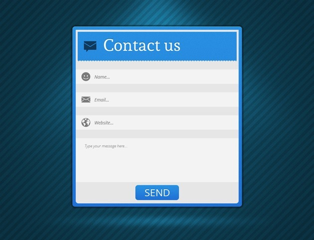 Minimalist Contact US form