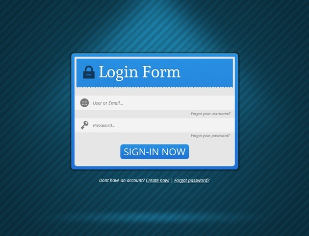 Minimalist Login form PSD