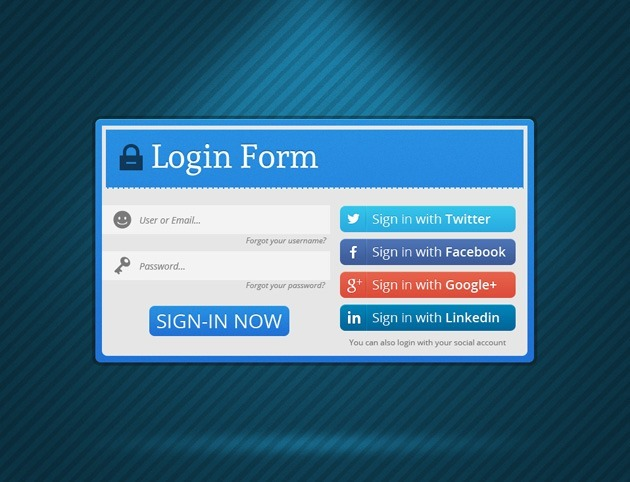 Minimalist Login form