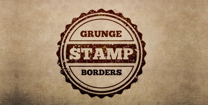 Grunge Stamp Borders + Textures Pack