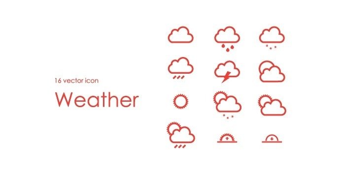 16 Vector Weather Icon