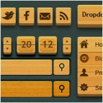 Wooden GUI Set: More than 1000 design elements for your next web/software project!