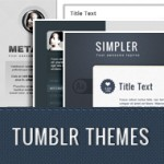 20 Tumblr themes pack, with editable sources in Photoshop (PSD)