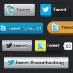 600 Twitter Buttons: Fully Editable Vector PSD Freebie