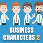 Free vector business characters: More than 1000 combinations