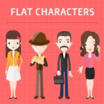 Flat Characters: More than 3000 flat vector characters with over 200 accessories