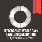 Infographic Design Vector Pack: Create infographics the easy way, thousands of possible combinations...