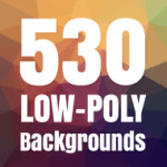 Low Poly Backgrounds: 530 Geometric Background Designs Mega Pack
