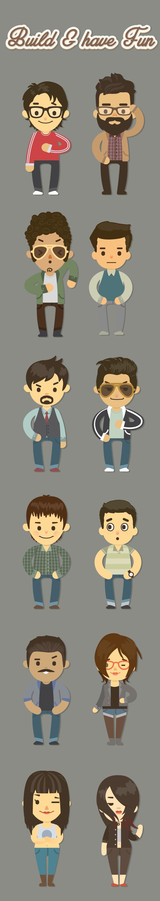 Cartoon Character Design Website : Cute cartoon character generator over items