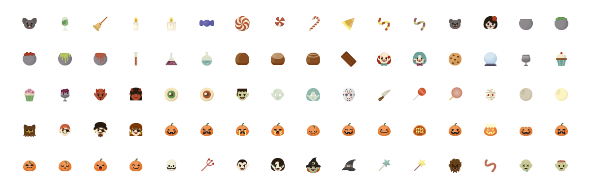 halloween vector character and scenes multi
